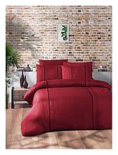 Комплект постільної білизни ранфорс delux First Choice євро розмір Elegant Dark Red Series