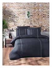 Комплект постільної білизни ранфорс delux First Choice євро розмір Elegant Denim Dark Series