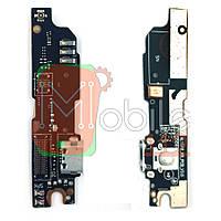 Шлейф Meizu M3 Note L681H з роз'ємом зарядки, мікрофоном і кнопкою меню V 3.0 - нижня плата