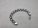 Срібний браслет якірного плетіння подвійний (подвійний якір), 20 см., 61 гр., фото 3