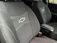 Чохли на сидіння CHEVROLET AVEO 2011 - з/сп 2/3 1/3; сидіння цілісне; з/тил; передній підлокітник; 5 подгол;