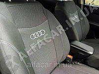 Чохли на сидіння AUDI 100 C4 1990-1997 задня спинка і сидіння цілісні; задній підлокітник; 4 підголовника.