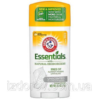 Arm & Hammer, Essentials, Дезодорант с натуральными дезодорирующими компонентами,  без искусственных ароматиза