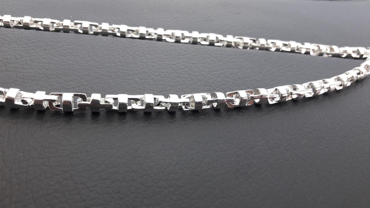 Серебряная цепочка, круглое Якорное плетение, 55 см.,41 гр