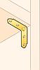Перфорированный крепеж - универсальные уголки для мебели и столярных изделий