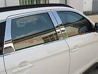 Хромированные накладки на стекло (стекольный молдинг) Mitsubishi ASX 2012+