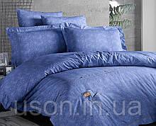 Комплект постільної білизни ранфорс de lux first choice євро розмір mavi Jeans