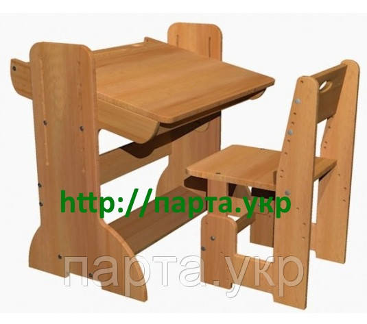Детская парта растущая 70см + стульчик (бук)