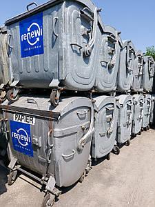 Б/У оцинкованный контейнер для мусора 1,1 м3. Германия
