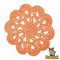 Мини декор Цветок вязаный Абрикосовый 6 см HandMade