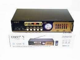 Усилитель звука UKC AV-121BT Bluetooth USB + караоке 2 микрофона