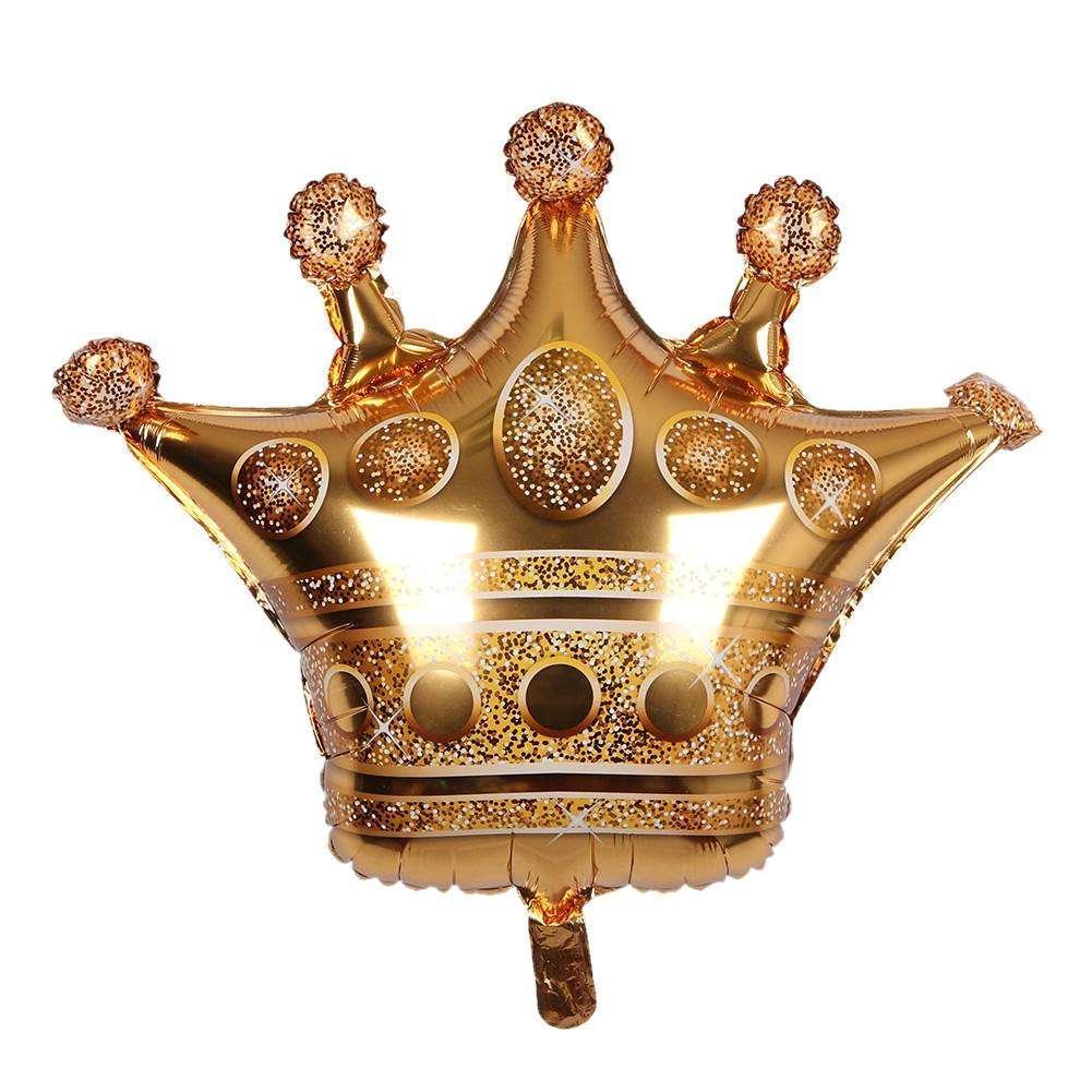 Фольгированный воздушный шар фигура Корона Золото 58х60 см Китай