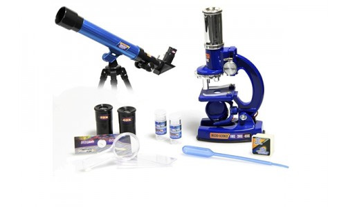Детский набор 2в1 микроскоп и телескоп С2109