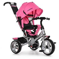 Велосипед M 3113-6 три кол. EVA (12/10), колясочный, розовый