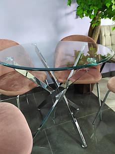 Стіл круглий скляний нерозкладний круглий T-315 Vetro Mebel ™