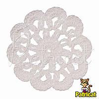 Мини декор Цветок вязаный Белый 6 см HandMade, фото 1