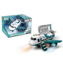 Вантажний літак, бірюзовий