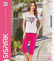 """Женская пижама """"SISPARK"""" №75 (капри)"""