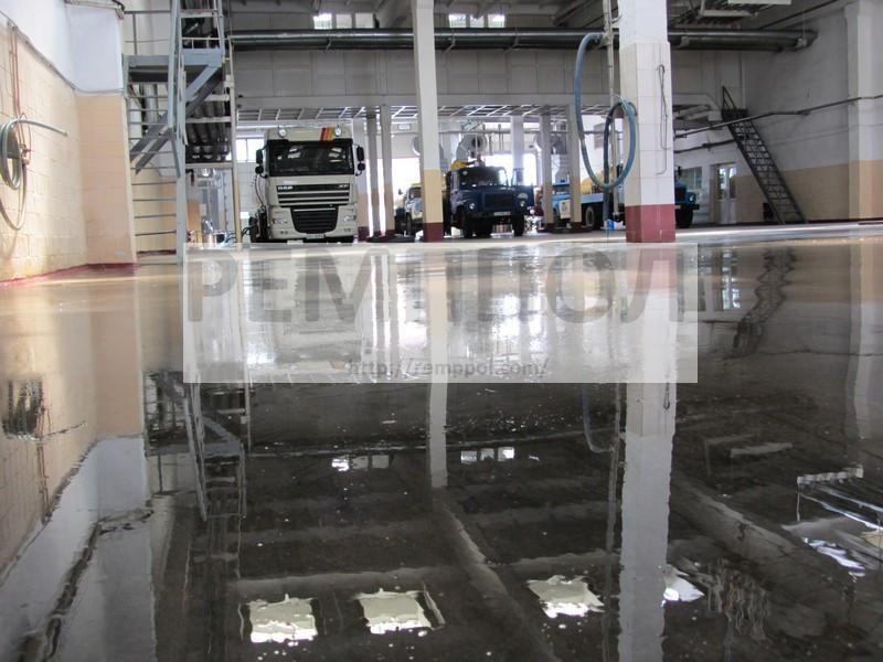 Восстановление (полировка) бетонного основания, с нанесением упрочняющей пропитки
