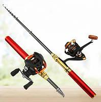 Удочка fish rod, карманная удочка ручка Shuvek