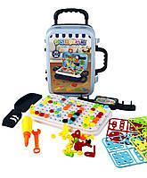 Игровой набор чемодан PAZZLE interest assemble toy 137 PCS suitcase Shuvek