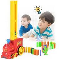 Набор игрушек поезд домино, DOMINO Happy Truck sciries COLORS 100 деталей Shuvek
