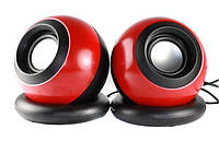 Колонки для ПК SPS D008 компьютерные колонки USB Red Shuvek