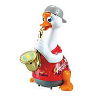 Игрушка музыкальная Hola Toys Гусь саксофонист, красный 6111 Shuvek