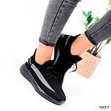 Кроссовки женские Siam черные 4037, фото 2