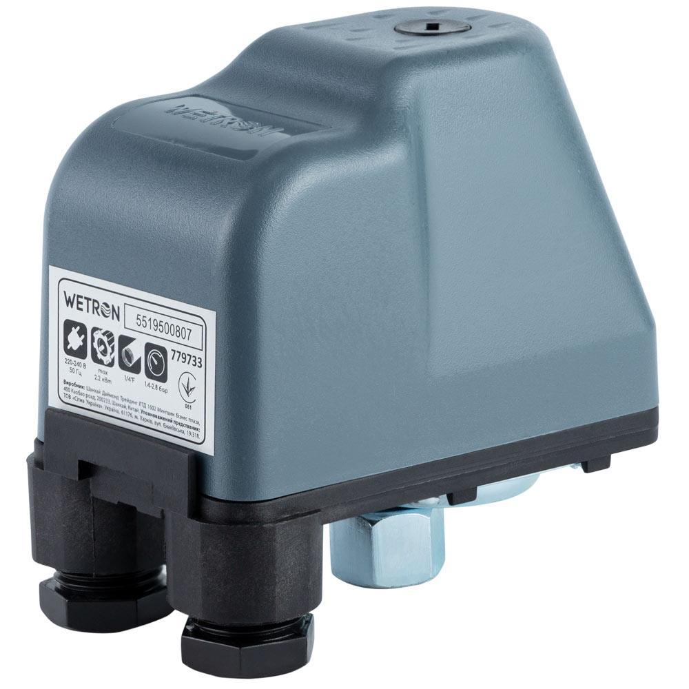 Реле давления 2.2кВт 1.4-2.8 бар (гайка) WETRON (779733)