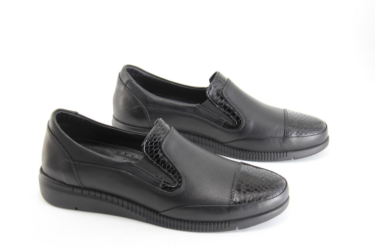 Туфли женские кожаные  Erpass 821-siyah