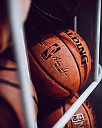 М'яч баскетбольний Spalding NBA Replica Indoor Outdoor Ball Game 28.5 оригінал розмір 6 композитна шкіра, фото 3