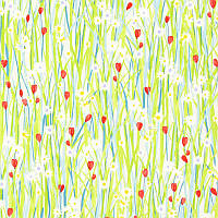 Ткань для штор в детскую девочки Spring daisy Prestigious Textiles