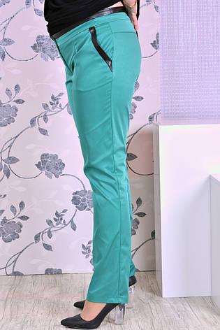 Женские брюки с карманами больших размеров 07 зеленые 48-74, фото 2