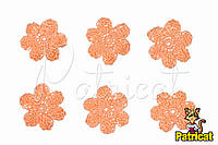 Мини декор Цветок вязаный Абрикос 3 см HandMade