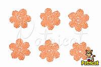 Мини декор Цветок вязаный Абрикос 3 см HandMade, фото 1
