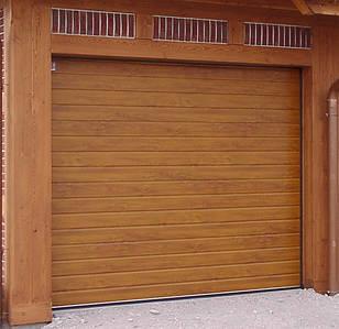 Механические секционные ворота в гараж