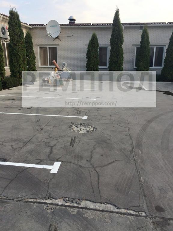 Ремонт бетонного основания, устройство высокопрочного тонкослойного покрытия