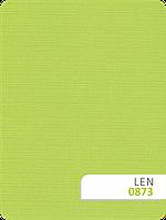 Рулонные шторы ткань Len 873 салатовый