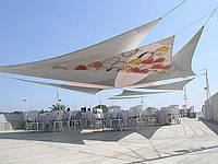 """Тенты """"Парус"""" для летних площадок кафе, ресторанов и отелей"""