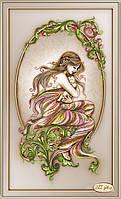 """Рисунок на ткани для вышивания бисером """"Сладость материнства"""""""