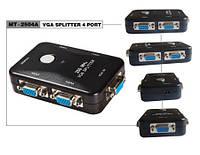 Разветвитель (сплиттер) VGA 1х4 mini, МТ-2504A
