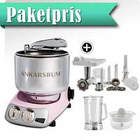 Тестомес Ankarsrum АКМ6220PP De Luxe кухонный комбайн, розовый, фото 1