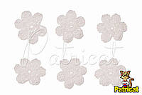 Мини декор Цветок вязаный белый 3 см HandMade