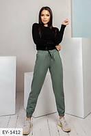 Стильные спортивные молодежные брюки из двух-нитки р-ры 42-44,46-48