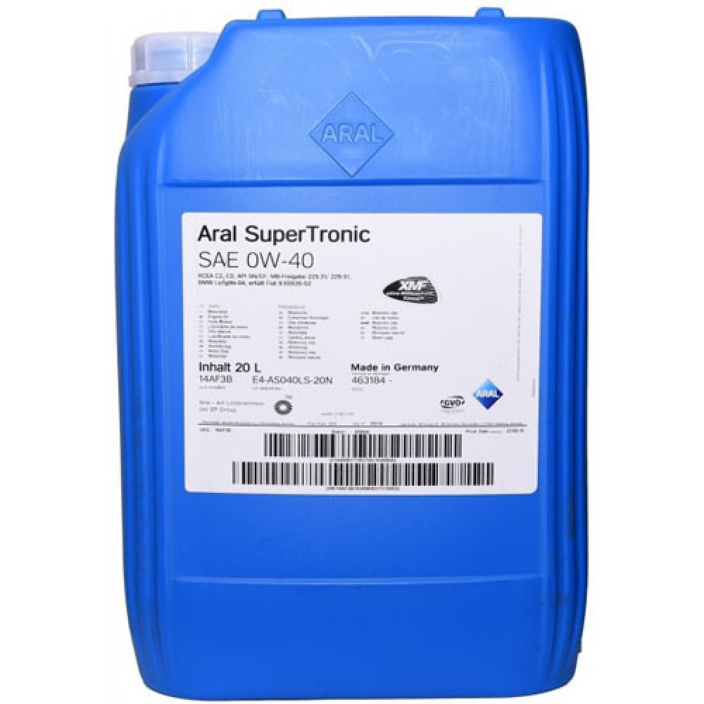 Масло моторное Aral SuperTronic 0W-40 20л