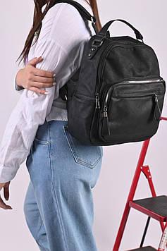 Рюкзак женский черный код 7-11960