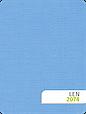 Штори рулонні Льон 2074 блакитний, фото 2