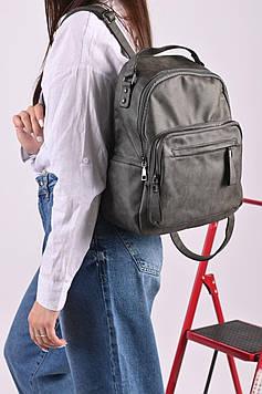 Рюкзак жіночий сірий код 7-11960