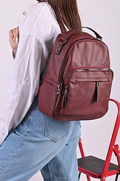 Рюкзак жіночий бордовий код 7-11960